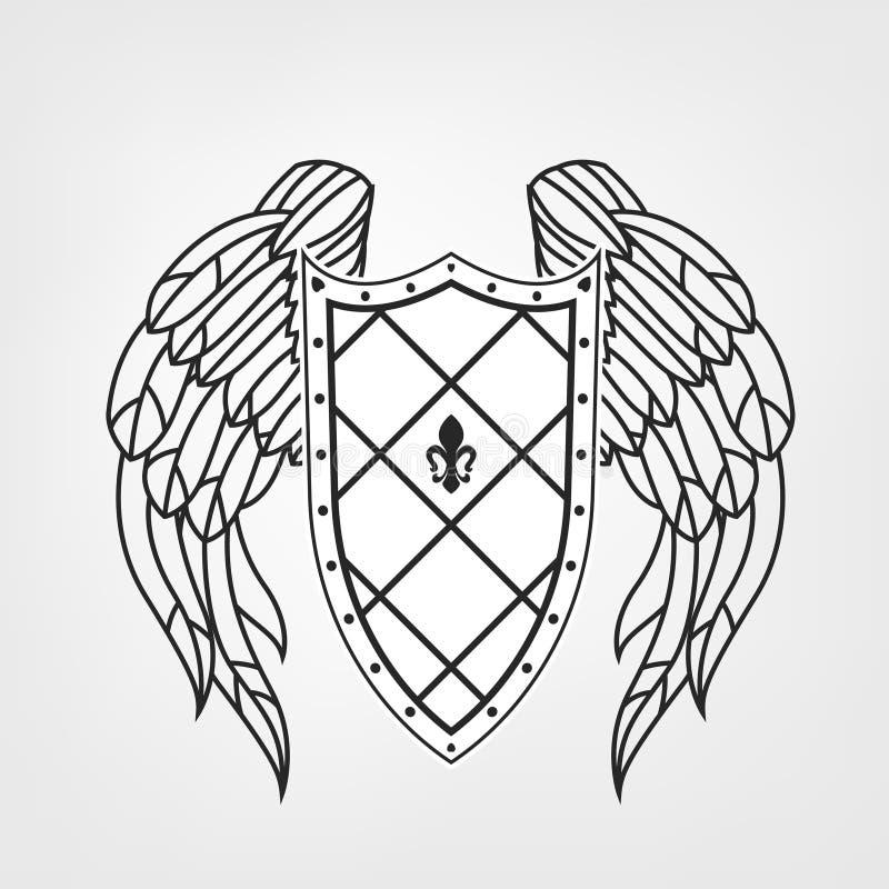 Icono medieval del escudo libre illustration