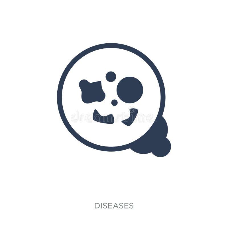 icono Meticilina-resistente del estafilococo áureo (MRSA) trendy stock de ilustración
