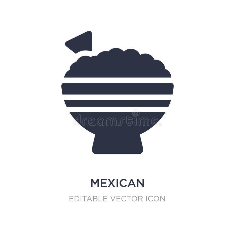 icono mexicano en el fondo blanco Ejemplo simple del elemento del concepto de la comida ilustración del vector