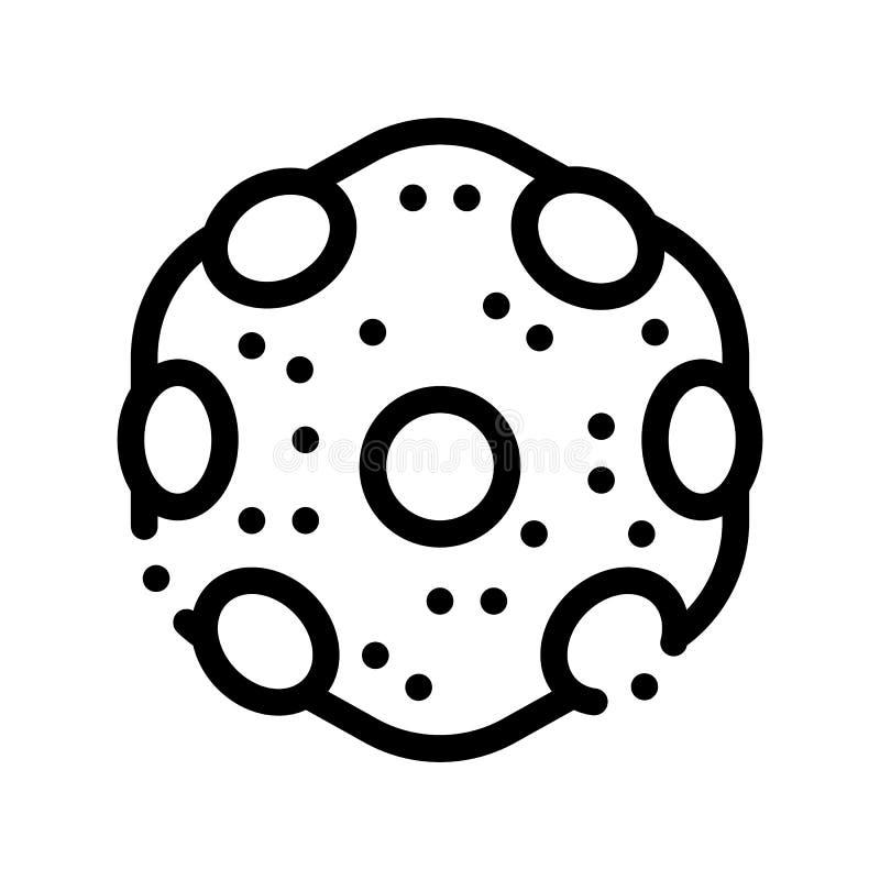 Icono microscópico de la muestra del vector de la bacteria del laboratorio stock de ilustración