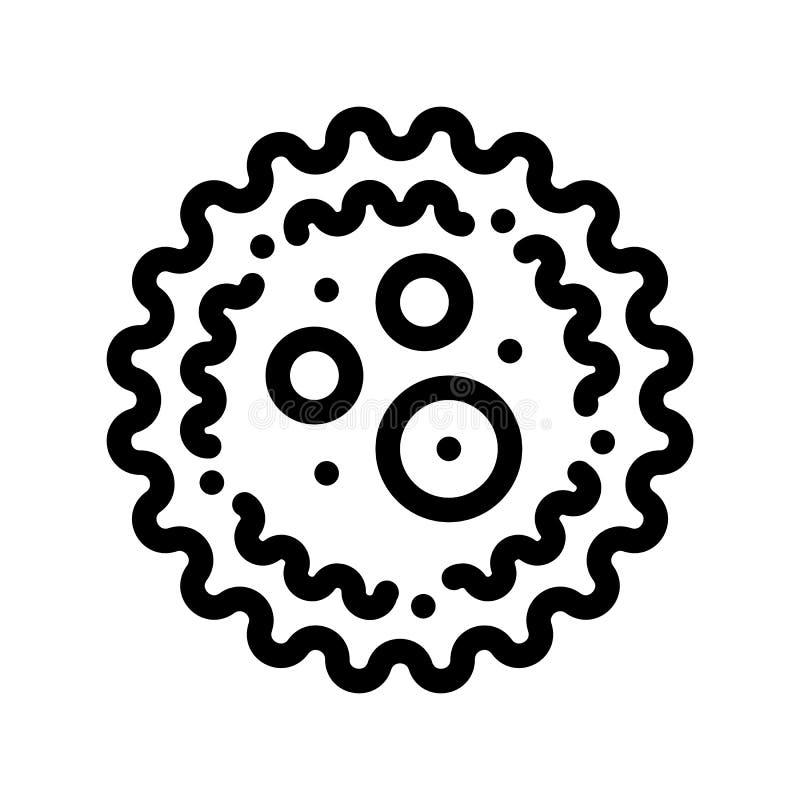 Icono microscópico de la muestra del vector de Microgerm de la bacteria libre illustration