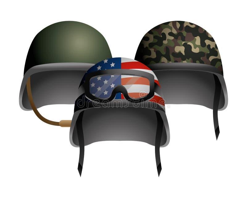 Icono militar del casco libre illustration