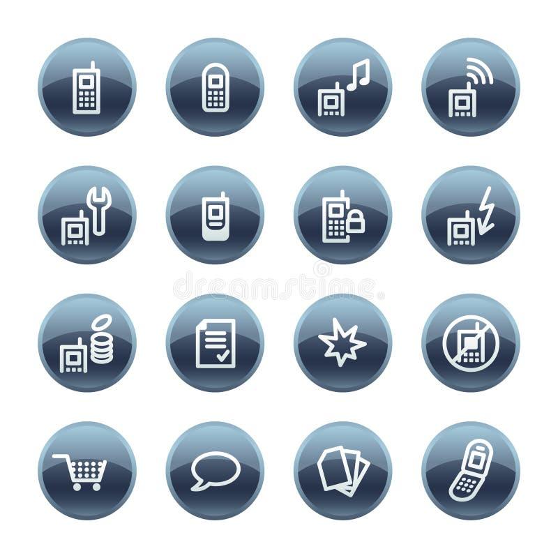 Icono mineral del teléfono móvil de la gota stock de ilustración