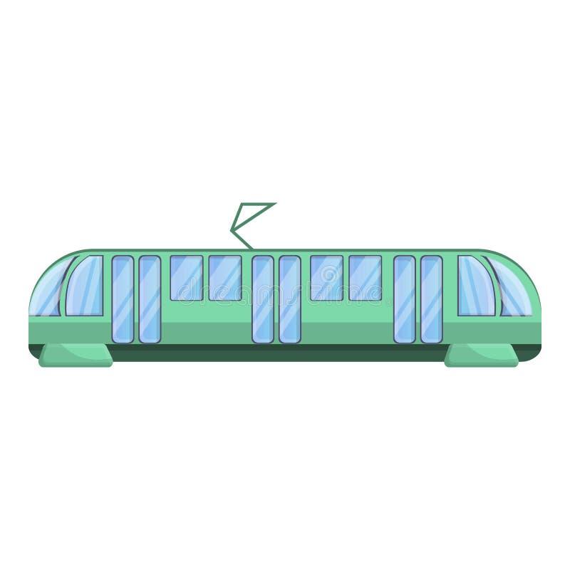 Icono moderno del coche de la tranvía de la ciudad, estilo de la historieta libre illustration