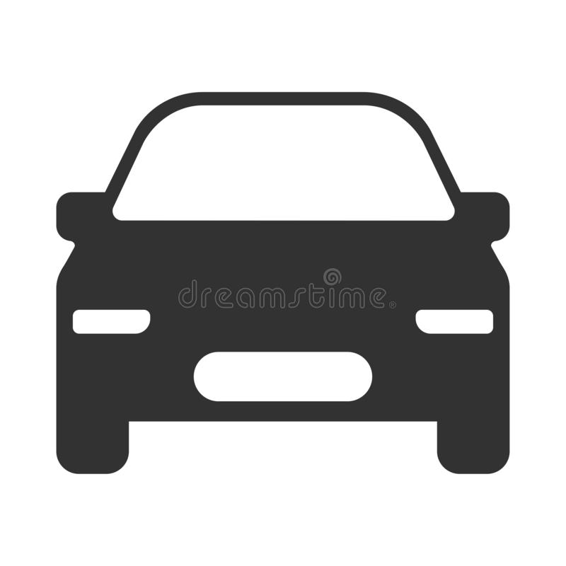 Icono moderno del vector del coche ilustración del vector