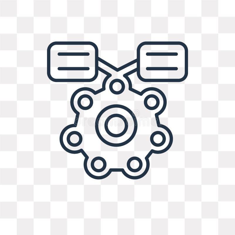 Icono molecular del vector aislado en el fondo transparente, linear ilustración del vector