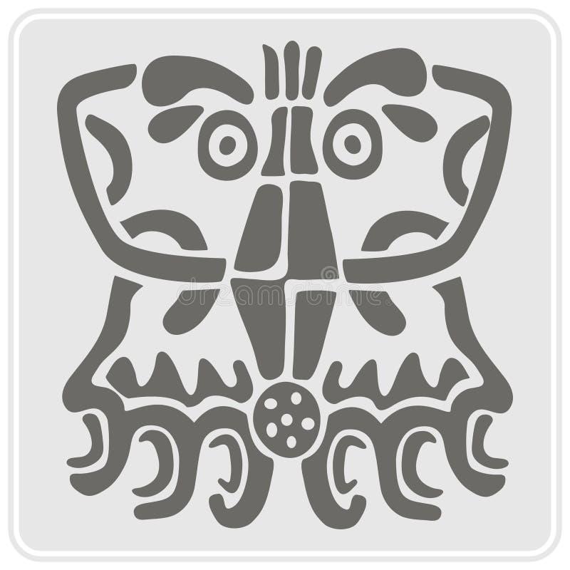 Download Icono Monocromático Con Arte Americano De Los Indios Y Ornamentos étnicos Stock de ilustración - Ilustración de elemento, indígena: 64212942
