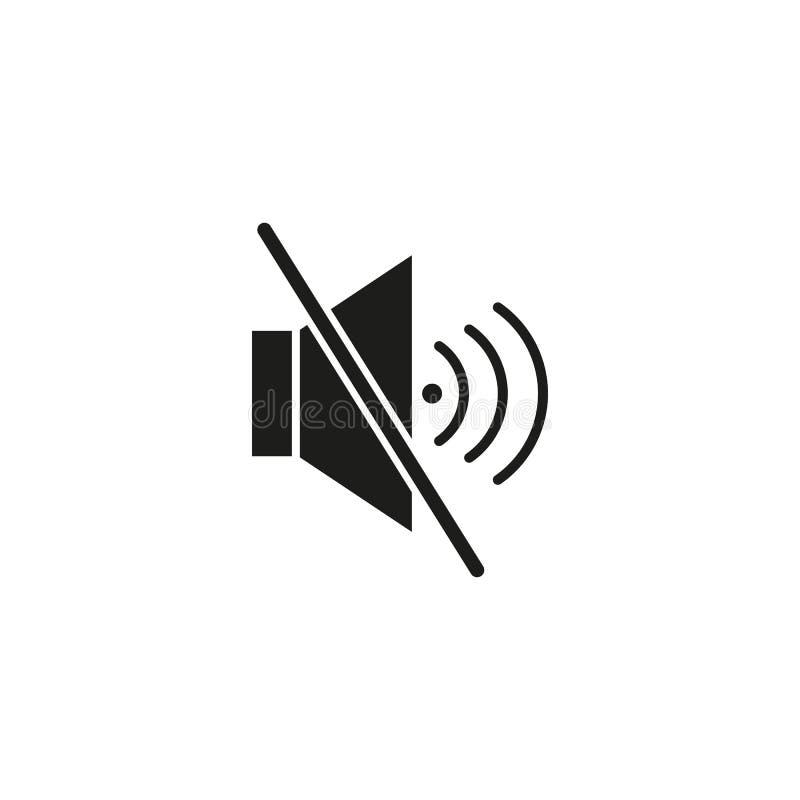 Icono mudo de la voz stock de ilustración