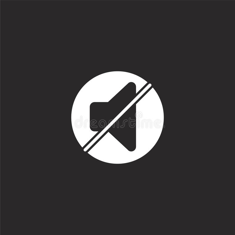 icono mudo Icono mudo llenado para el diseño y el móvil, desarrollo de la página web del app icono mudo de la colección esencial  stock de ilustración