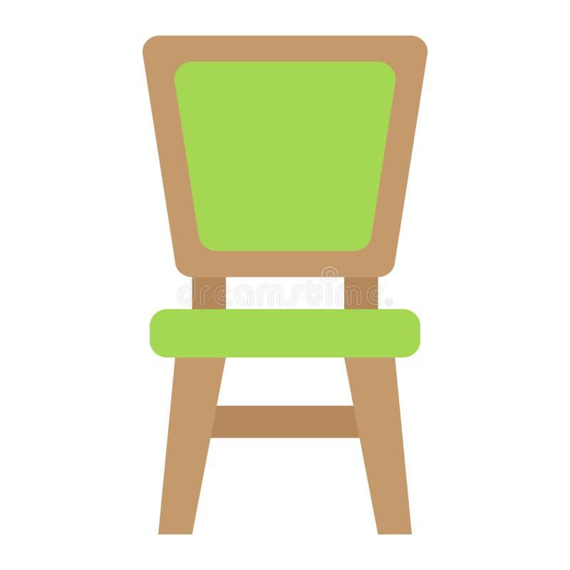Icono, muebles e interior planos de la silla libre illustration
