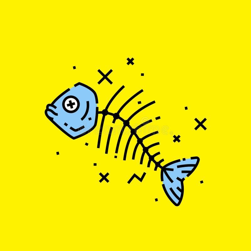 Icono muerto de los pescados libre illustration