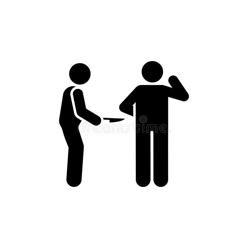 Icono muerto del cuchillo de dos mangos de la matanza Elemento del ejemplo de la muerte del pictograma ilustración del vector