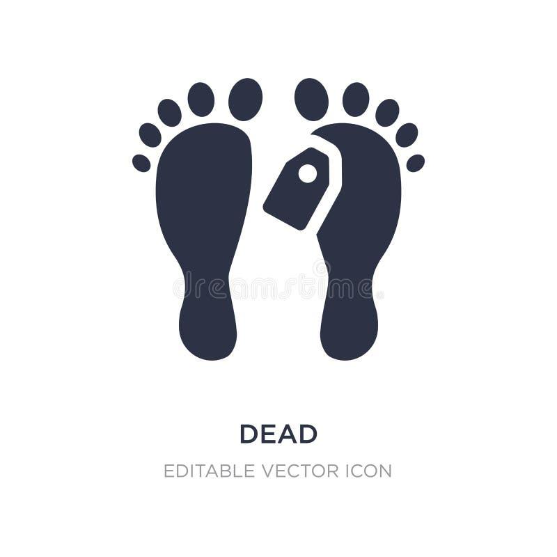 icono muerto en el fondo blanco Ejemplo simple del elemento del concepto médico libre illustration