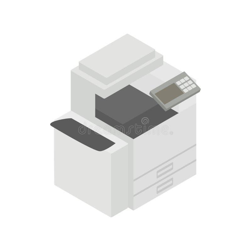 Icono multiusos del dispositivo, del fax, de la copiadora y del escáner libre illustration