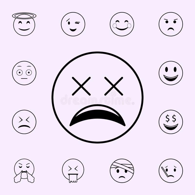 icono muy cansado Sistema universal de los iconos de Emoji para la web y el m?vil libre illustration