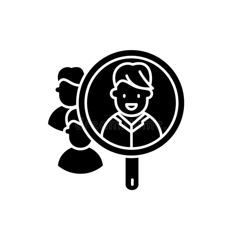 Icono negro de la análisis de consumo, muestra del vector en fondo aislado Símbolo del concepto de la análisis de consumo, ejempl ilustración del vector
