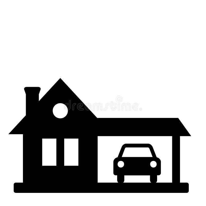 Icono negro de la casa ilustración del vector