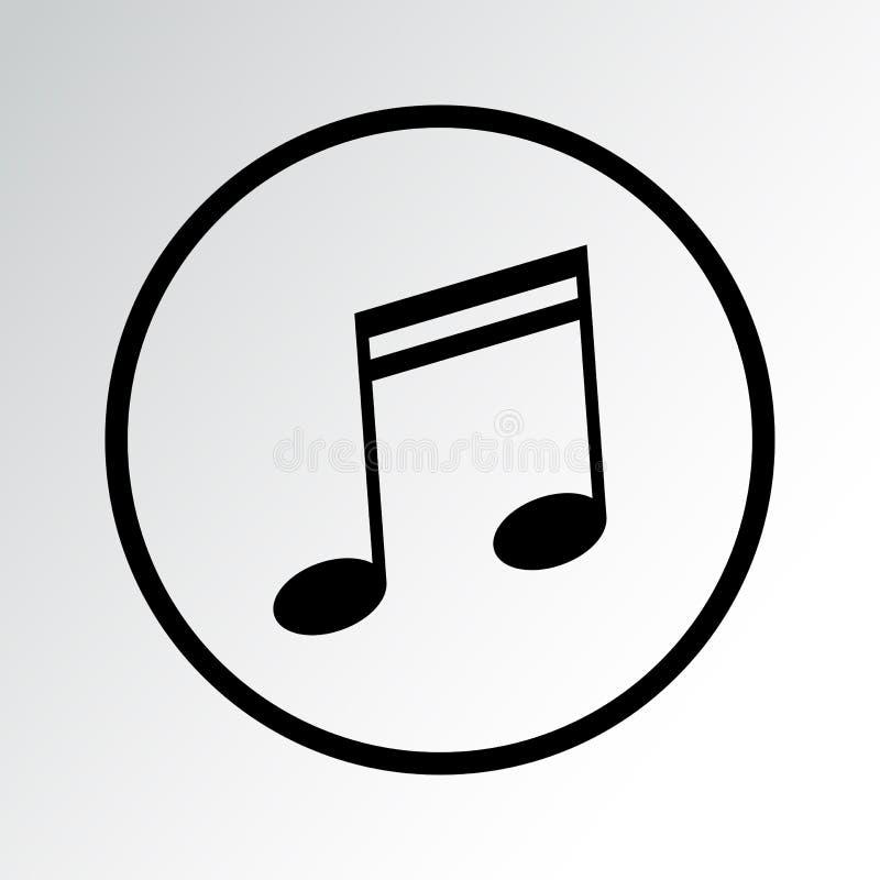 Icono negro de la m?sica Ilustraci?n del vector stock de ilustración