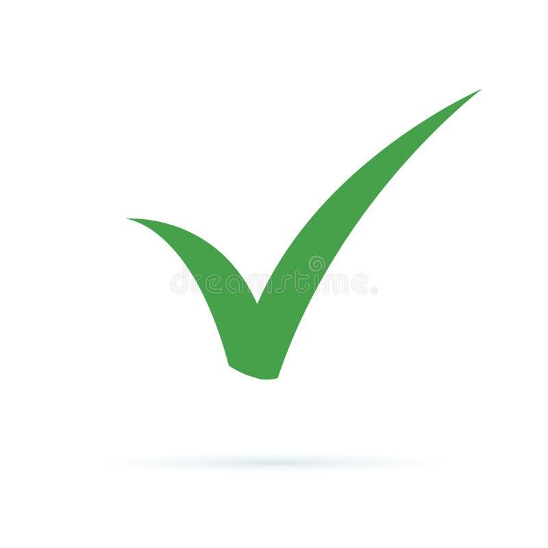 Icono negro de la marca de verificación Símbolo de la señal, ejemplo del vector del icono de la señal Icono ACEPTABLE plano de la libre illustration