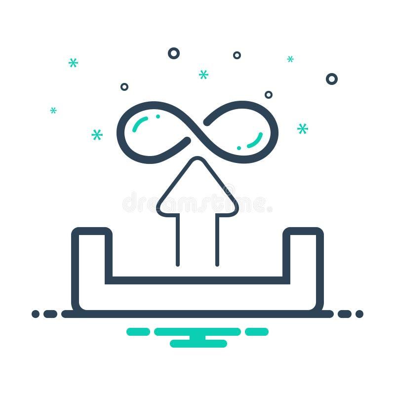 Icono negro de la mezcla para ilimitado, la carga por teletratamiento e infinito stock de ilustración