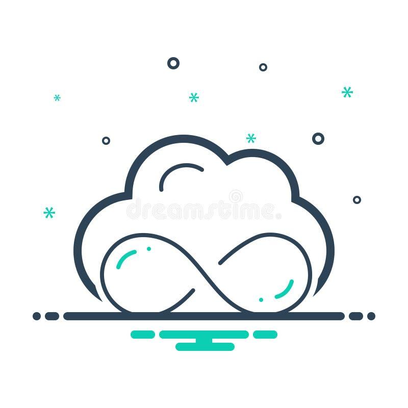 Icono negro de la mezcla para ilimitado, el almacenamiento y la nube libre illustration