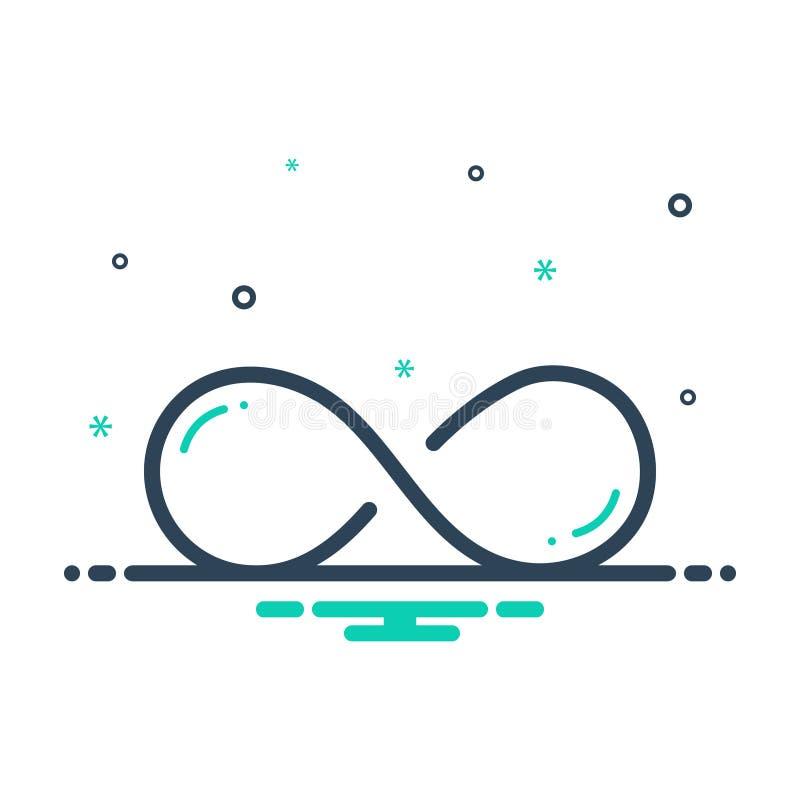 Icono negro de la mezcla para infinito, ilimitado y sin fin ilustración del vector
