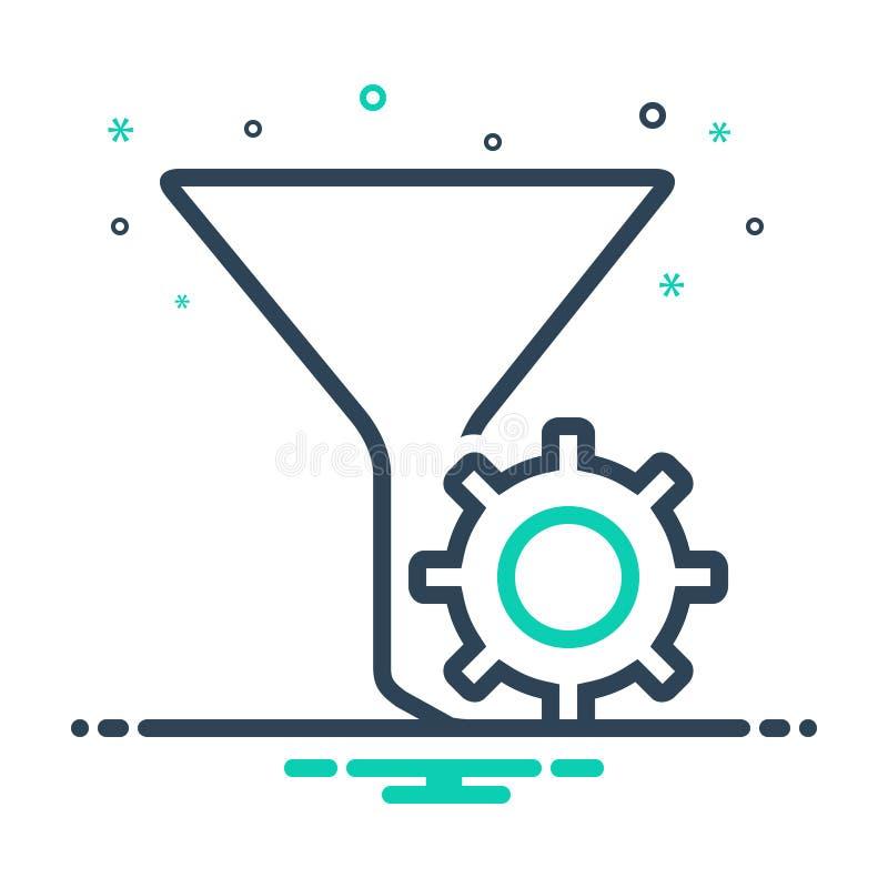 Icono negro de la mezcla para los ajustes, la clase y poner en cortocircuito del filtro ilustración del vector