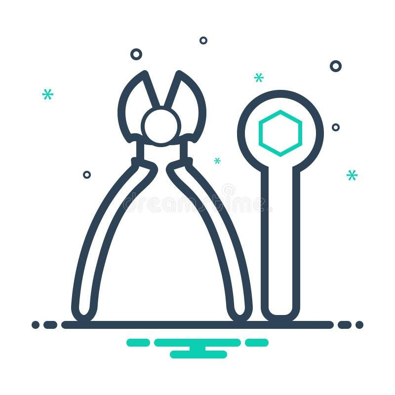 Icono negro de la mezcla para los ajustes, el equipo y los instrumentos de las herramientas libre illustration