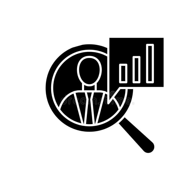 Icono negro de la productividad, muestra del vector en fondo aislado Símbolo del concepto de la productividad, ejemplo stock de ilustración