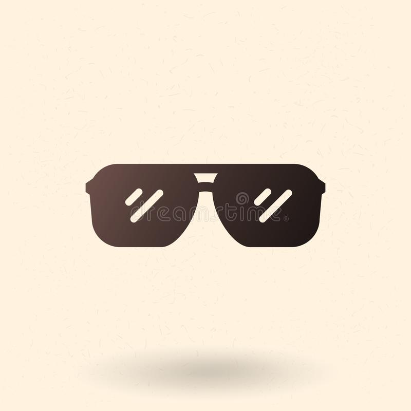 Icono negro de la silueta del vector - aviador Style Sunglasses libre illustration