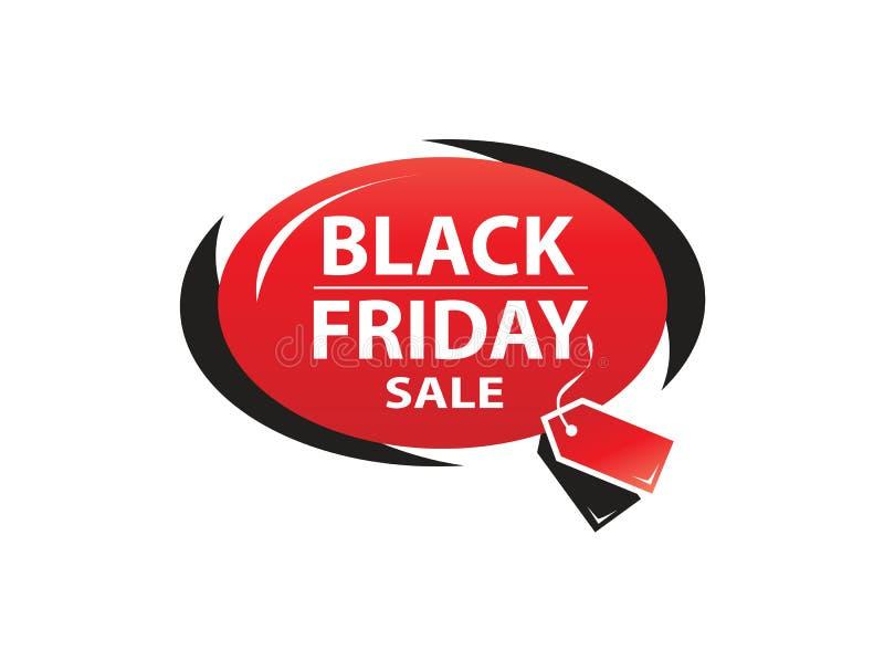 Icono negro de viernes stock de ilustración
