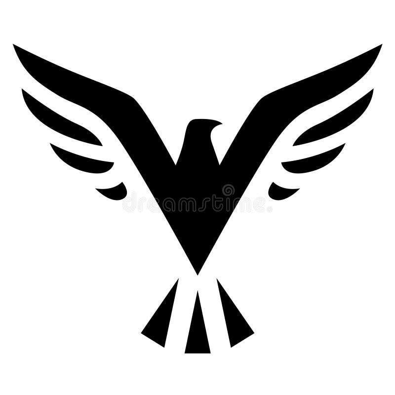 Icono negro del pájaro libre illustration