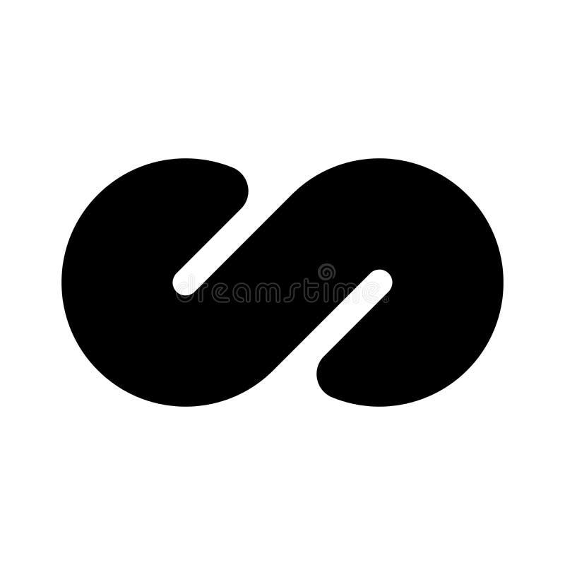 Icono negro del s?mbolo del infinito Concepto de infinito, de ilimitado y de sin fin Elemento plano simple del dise?o del vector libre illustration