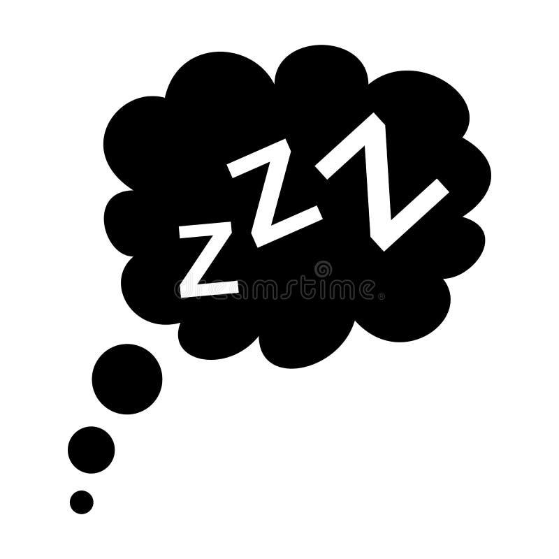 Icono negro del sueño ilustración del vector