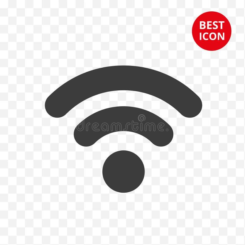 Icono negro del wifi Conexión del símbolo del vector Muestra aislada Internet Wifi moderno de la señal en estilo plano Diseño sim stock de ilustración