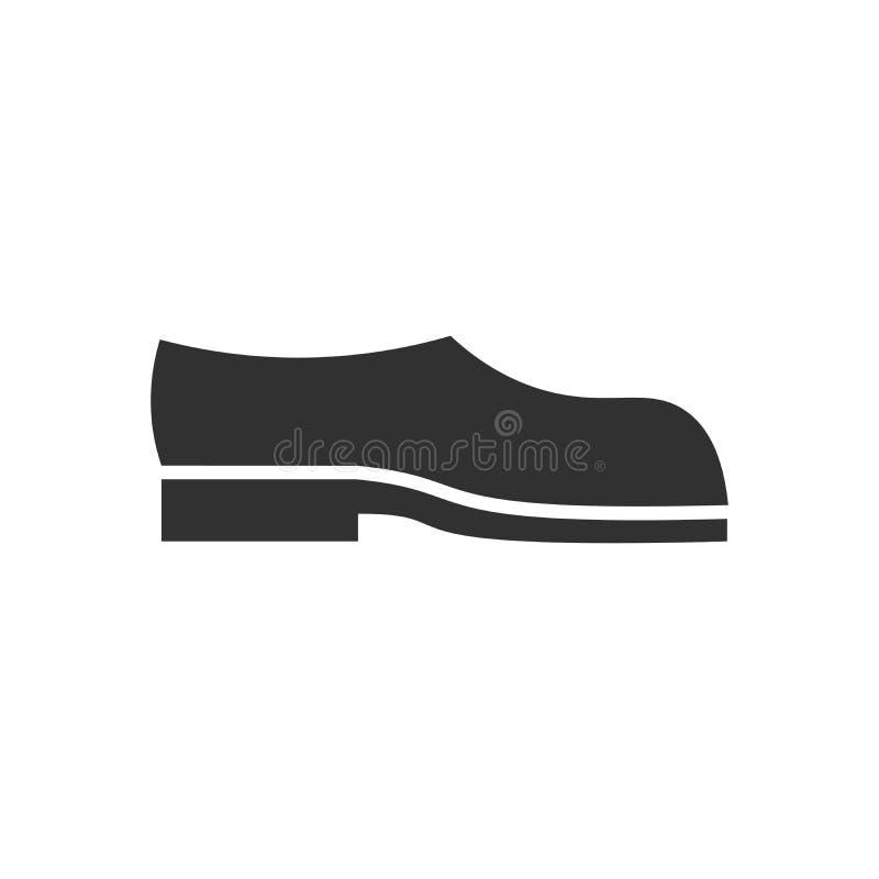 Icono negro simple de la bota del vector aislado en el fondo blanco libre illustration