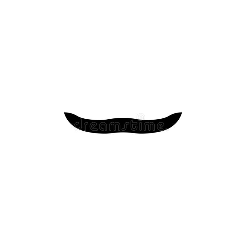 Icono negro simple del bigote falso Silueta del bigote del hombre ilustración del vector