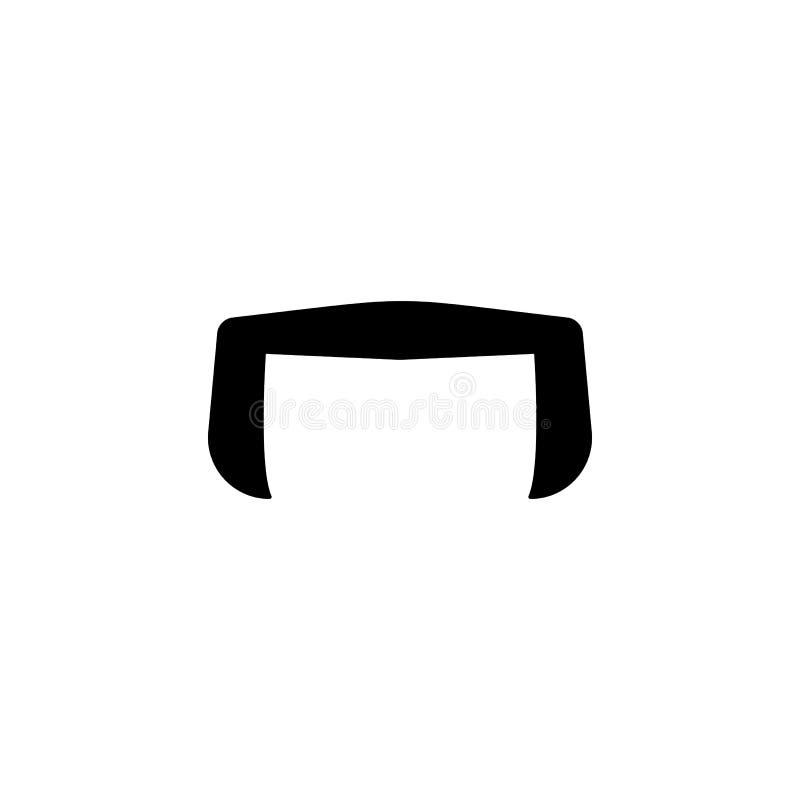 Icono negro simple del bigote falso ilustración del vector
