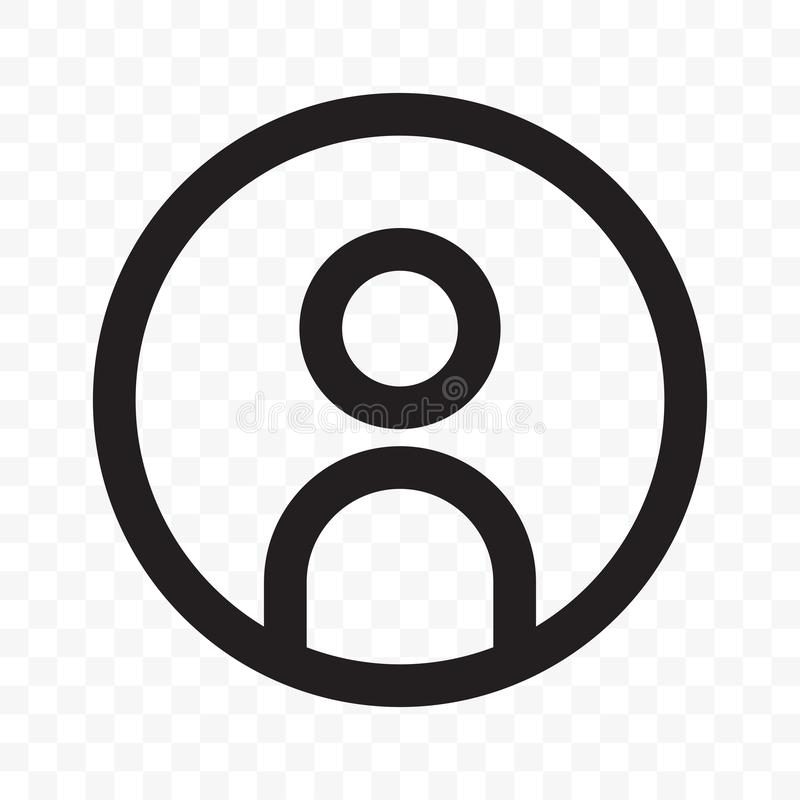 Icono neto social del vector del perfil del avatar del miembro del usuario libre illustration