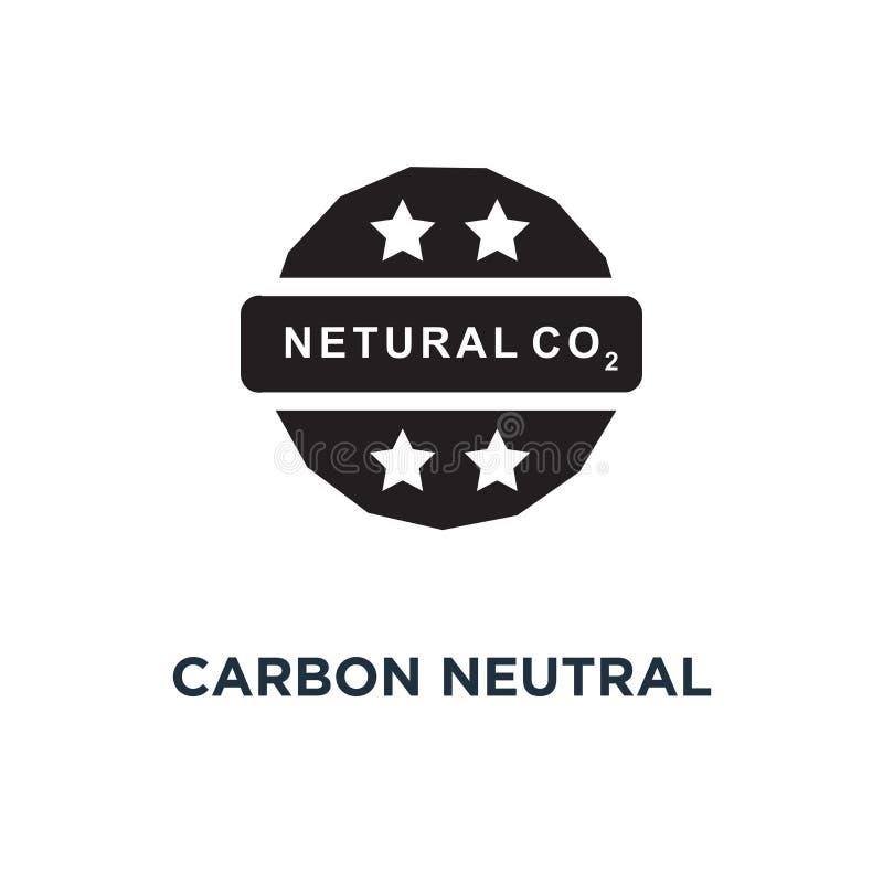 Icono neutral del carbono Ejemplo simple del elemento Neutral del carbono stock de ilustración
