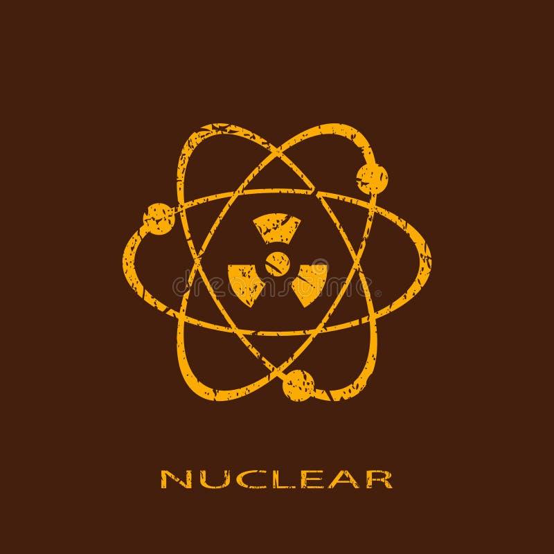 Icono nuclear stock de ilustración