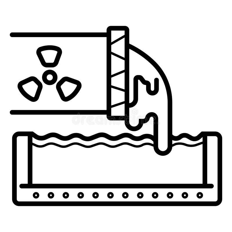 Icono nuclear del peligro stock de ilustración