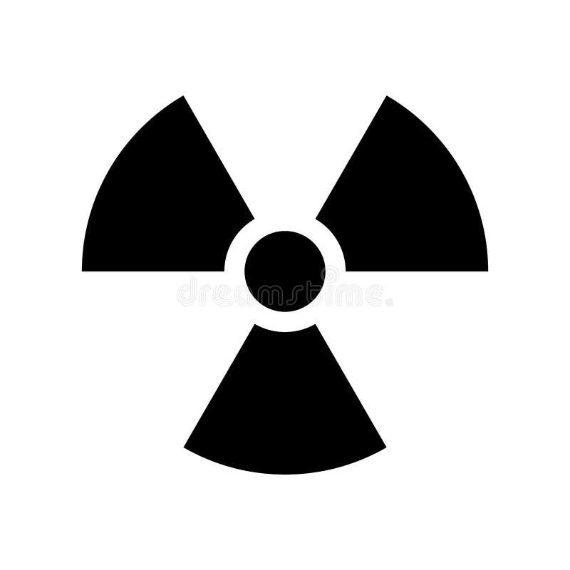 Icono nuclear plano simple ilustración del vector