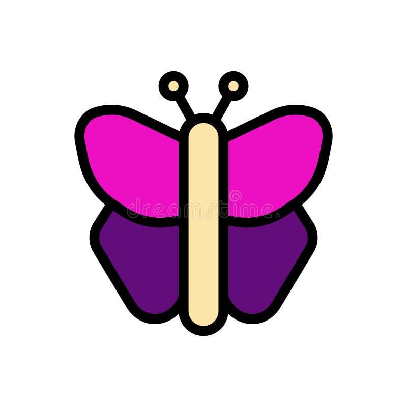 Icono o ejemplo del logotipo del vector del verano de la mariposa Movimiento y color Editable Uso perfecto para el gr?fico del mo stock de ilustración