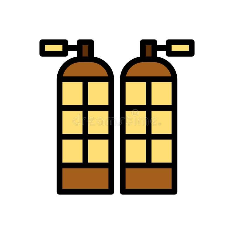 Icono o ejemplo del logotipo del vector del verano del oxígeno que se zambulle Movimiento y color Editable Uso perfecto para el g stock de ilustración