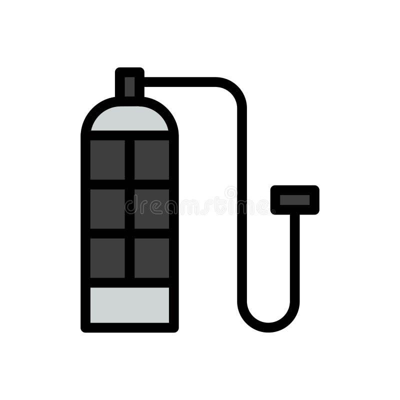 Icono o ejemplo del logotipo del vector del verano del ox?geno que se zambulle Movimiento y color Editable Uso perfecto para el g libre illustration