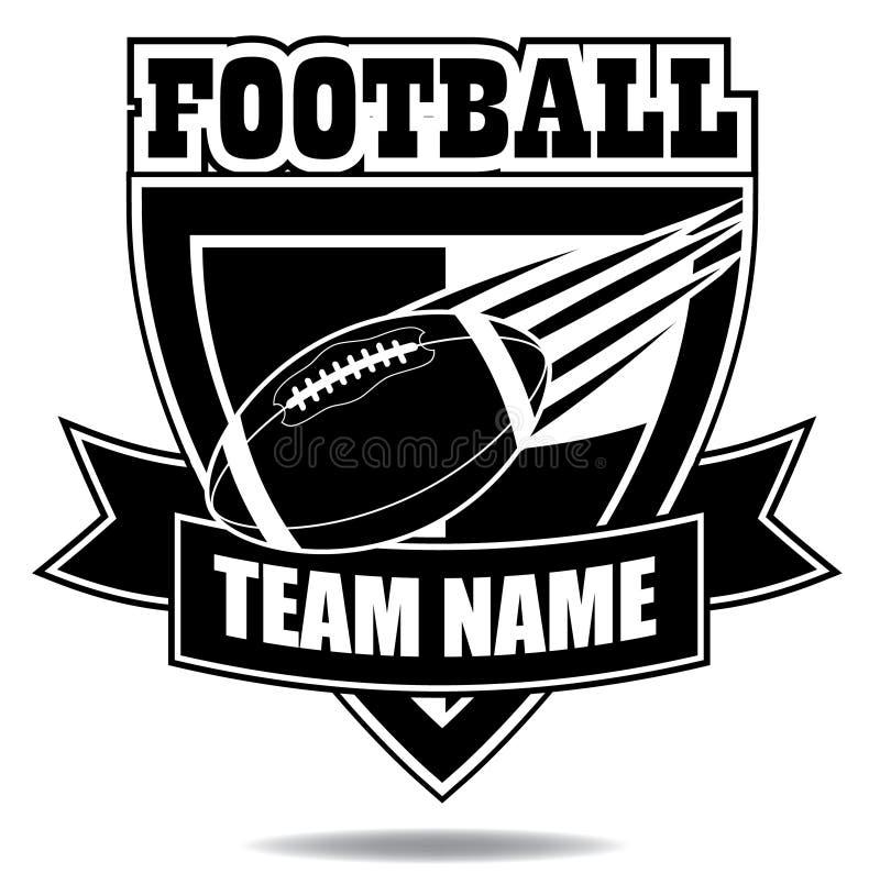 Icono o escudo de la insignia del fútbol americano libre illustration