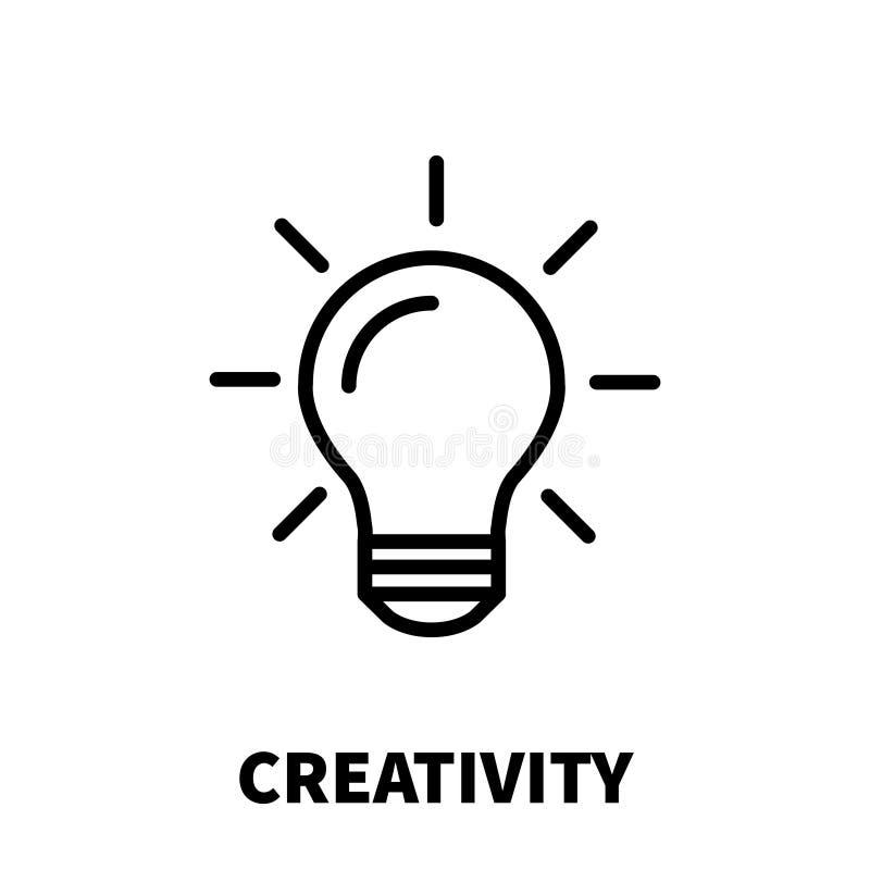 Icono o logotipo de la creatividad en la línea estilo moderna libre illustration