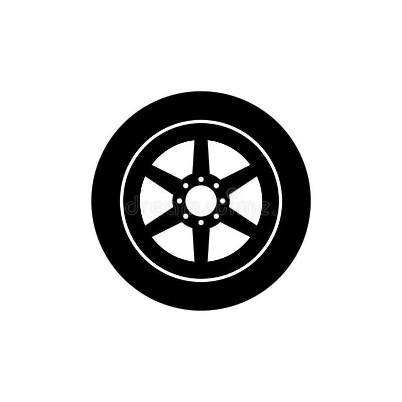 Icono o logotipo del extracto de la rueda de coche libre illustration