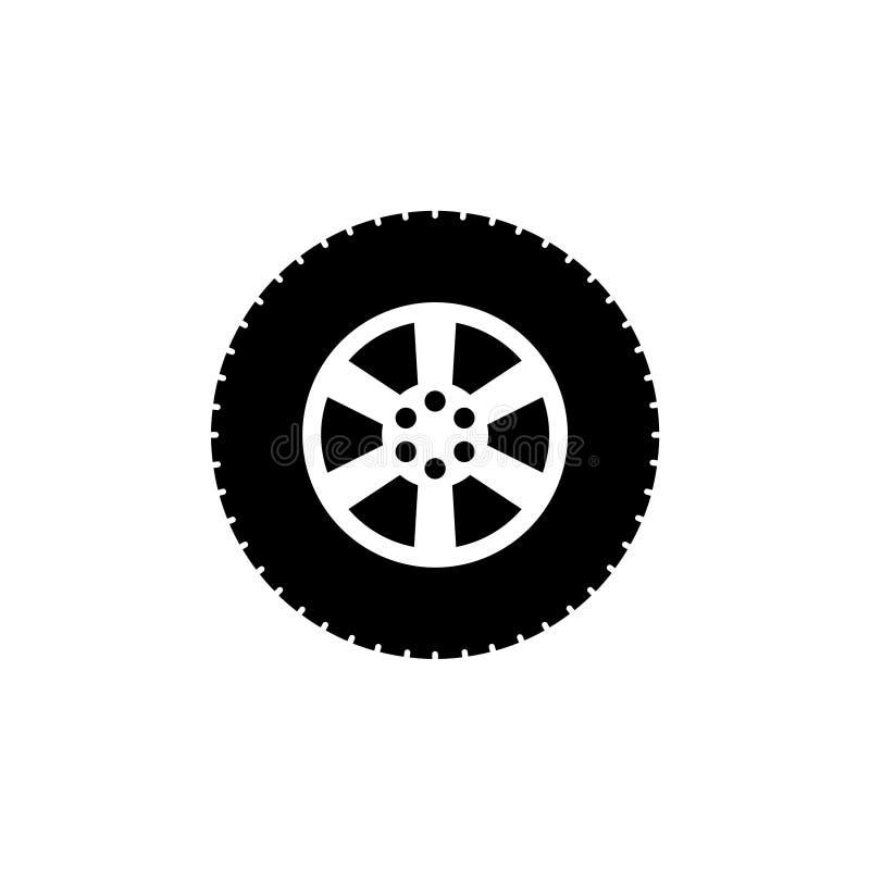 Icono o logotipo del extracto de la rueda de coche stock de ilustración